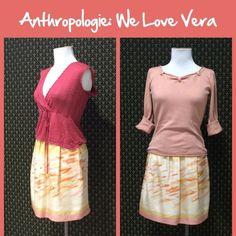 """Anthro """"Goldfish Bowl Skirt"""" by We Love Vera Silk shell, cotton lining, zip closure, side pockets? Great condition. **  Prices are as listed- Nonnegotiable.  I'm happy to bundle to save shipping costs, but there are no additional discounts.  No trades, paypal or condescending terms of endearment  ** Anthropologie Skirts"""