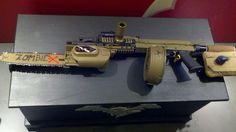 zombie guns | Zombie sbr ak 47 with under barrel chainsaw