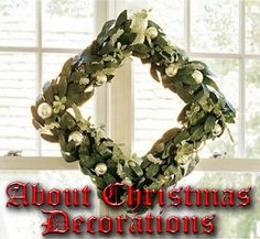 Victorian-era Christmas decorations used greenery besides holly and conifer branches, a practice imitated by the artificial bay leaves on this Pottery Barn™ wreath.