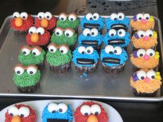 Sesame Street Cupcakes by npiacenti, via Flickr