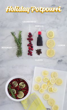 For a house that smells as clean as it looks, simmer lemon, rosemary, vanilla, cranberry and cloves on your stovetop during the holidays. Handmade Christmas Gifts, Homemade Christmas, Holiday Crafts, Holiday Fun, Stove Potpourri, Simmering Potpourri, Homemade Potpourri, Potpourri Recipes, Winter Christmas