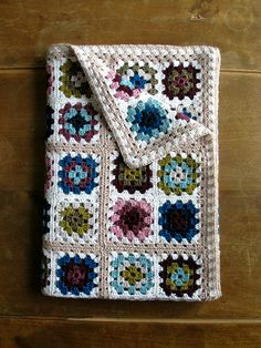 "Nothing says ""comfort"" quite like a handmade afghan. Here's one that we love: crocheted Granny Squares"
