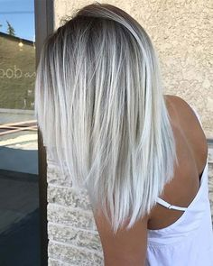 Silver and platinum blonde hair color possible