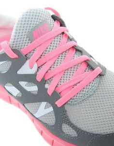 #Nike Free Running 2 Gray and Pink Sneakers / Wantering