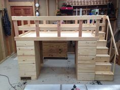 Custom Made Loft Bed With Storage
