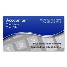 Tax Preparer Accountant Business Card. This great business ...