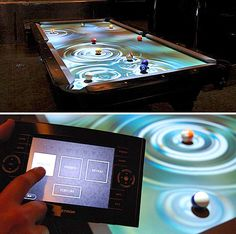 Pool table with a twist