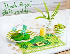 """FREE St. Patrick's Day Printables to say """"Top O' the Mornin' """" to your little leprechauns on St. Patty's Day!"""