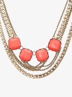 Stones & Multi-Chain Statement Necklace | Torrid