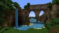 Minecraft World, Minecraft Bridges, Minecraft Building Guide, Minecraft Structures, Mine Minecraft, Minecraft Plans, Amazing Minecraft, Minecraft Tutorial, Minecraft Blueprints