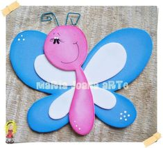 Foam Crafts, Diy And Crafts, Crafts For Kids, Arts And Crafts, Paper Crafts, Letter E Craft, Baby Record Book, Butterfly Crafts, School Decorations