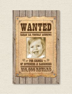 bdb4de773f5a415f687d675f7f7f7a30 cowgirl birthday cowgirl party wanted poster cowgirl birthday invitation child's party western,Wanted Poster Birthday Invitations