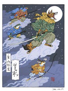 Ukiyo-e Heroes by Jed Henry & David Bull
