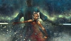 """joaellaine: """" Ahsoka Tano & Anakin Skywalker aka one of the most beautiful Star Wars bonds that is not romantic but still gets you emotionally. Inspired by Star Wars: The Clone Wars by Dave Filoni...."""