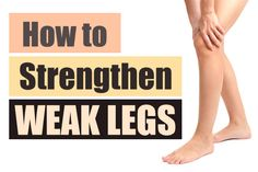 Prev post1 of 3Next People often complain about weakness and pain in their legs. In simple terms, leg weakness means decreased strength. This can result from poor blood circulation, nerve damage, over-activity, lack of exercise, arthritis, recovery after surgery, side effects of prescribed medicines, dehydration, diabetes, anemia, back pain, nutritional deficiencies and certain serious illness.