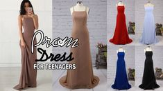Sexy Sheath/Column Chiffon Long Backless Prom Dress For Teenagers - Mill...