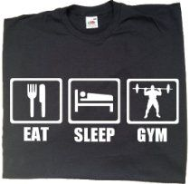 Eat Sleep Gym - Mens funny gym t-shirts, gym clothing / funny gift ideas for men