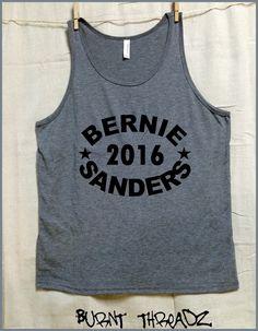 Bernie Sanders 2016. funky arch image. Gray tri blend UNISEX Tank Top. USA. Bernie for President. feel the Bern. Political Revolution by BurntThreadz on Etsy