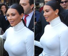 Kim Kardashian's Sleek Ponytail In Armenia — Hair HowTo