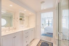 The master bath includes a steam shower.