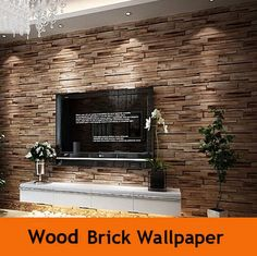 Wood Stone Brick Wallpaper 3D Wall Paper Solid Roll Luxury Classic Vintage Living Room Background Wall Decor Papel De Parede US $58.99