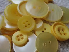 Yellow Button Mix 1030mm 3050 Buttons by Spasojevich on Etsy, $2.20