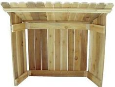 Cedar Nativity Stable ..... I built one like this myself....     they are great for your blow mold nativity's!