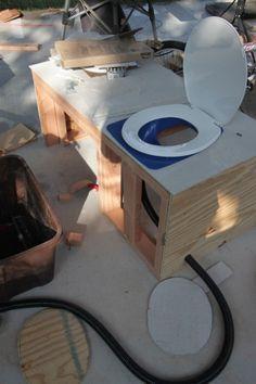 urine diverting composting toilet