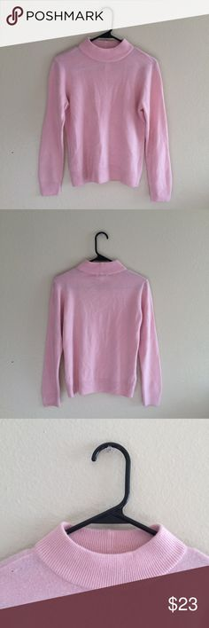 ✨vintage pastel pink mock neck light sweater ✨ A classic staple piece! Great for layering. 80s vintage. 100% acrylic, so it's super soft, light, and stretchy. Mock neck. Pullover. Size Petite Small. From a smoke-free home. Please comment with any questions, or feel free to make an offer! Vintage Sweaters Cowl & Turtlenecks