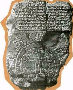 OT culture, Babylon (pinned to read later) - source claims this tablet is the oldest map of the world, with Babylon at its center.