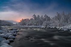 Lakselva River Under Moonlight, Norway by Jorma Hevonkoski  The North Norwegian river of Lakselva under a gorgeous November moonlight.  http://lp-mag.com/9nol