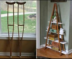 Who would have thought of such a clever use for old crutches? Well, someone did...Bravo!