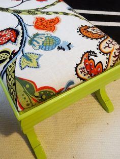 Reupholster a $3.99 ottoman thrift store find.