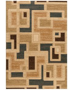 MANUFACTURER'S CLOSEOUT! Kenneth Mink Area Rug Northport J101 Blue 5'3