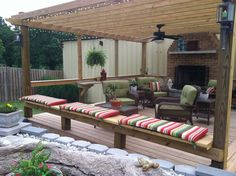 I would love some lattic or some sort of topper over our patio, sure would add some character!!