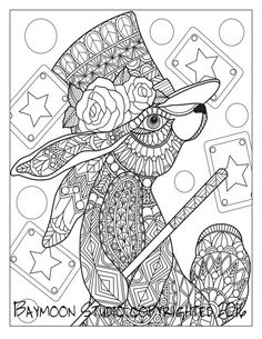 Magic Rabbit Coloring Page