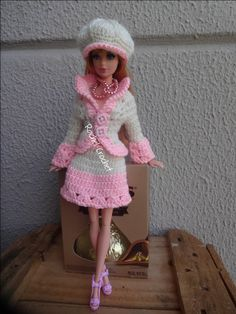 My mom crocheted lots of outfits for my Barbies!