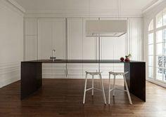 küche versteckt französiche fenster wand zierprofile