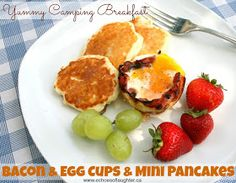 Echoes of Laughter: Camping Breakfast: Bacon & Egg Cups with Mini-Pancakes
