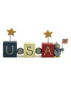 Love this 'USA' Bead Block by Blossom Bucket on #zulily! #zulilyfinds