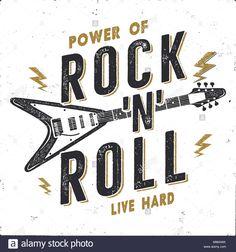 rock n roll design - Google Search New Year Typography, Vintage Typography, Adventure Symbol, Hard Music, Modern Logo Design, Type Design, Graphic Design, Music Logo, Hand Sketch