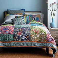Sorrento Quilt / Sham  Thecompanystore.com may be my new favorite site!