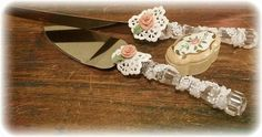 Lace Vintage Wedding Cake CutterCake Knives by InaruCreations, $22.00