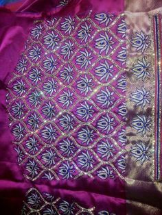 B Kids Blouse Designs, Hand Work Blouse Design, Simple Blouse Designs, Hand Designs, Pattu Saree Blouse Designs, Blouse Designs Silk, Blouse Patterns, Embroidery Designs Free Download, Maggam Work Designs