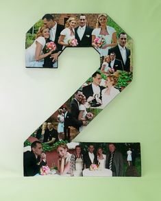 2nd Year Anniversary Photo Gift Photo Collage by picketfencecrafts