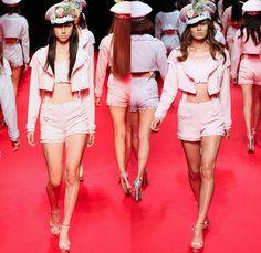 ZIN KATO 2014 Spring Summer Womens Runway Collection - Mercedes-Benz Fashion Week Tokyo Japan - Designer Toru Kato - Military Army Navy Mari...