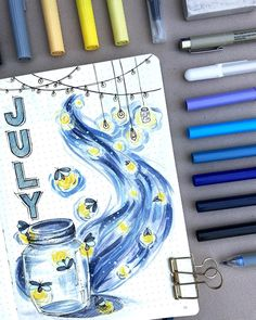 New month, new cover page, new theme! Trying to do a better job sticking to the theme (Lights with a blue and yellow color scheme) this…