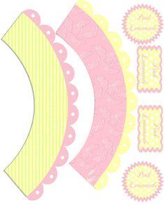 Lemonade Cupcake wrapper printable