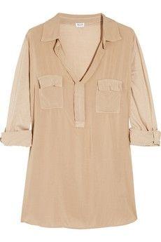 Splendid Voile and jersey shirt NET-A-PORTER.COM - StyleSays
