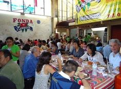Restaurant in Mercado de la Merced, Oaxaca - A. Starkman Mercado de la Merced and the 20 de Noviembre market, both in downtown Oaxaca, contain the best market restaurants in the city.  Every permanent indoor market in the southern Mexico city of Oaxaca has at least one good sit-down restaurant, eatery or food stall. Each comedor has a local following of not only the market vendors who tend their stalls, but also regular patrons who either shop at the market and seize the opportunity to sit…